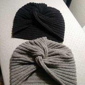 2 Knit Turbans